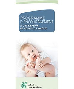Programmes de subvention de couches lavables de la Ville de Saint-Hyacinthe